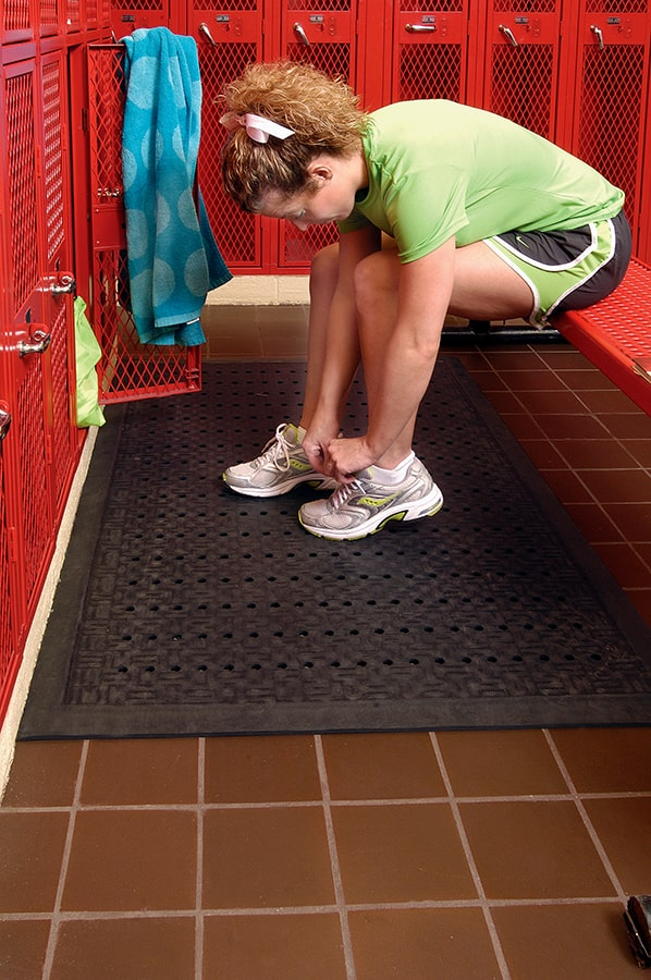 Cushion Station in Use Locker Room with Holes Website