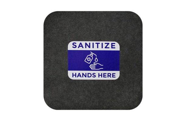 Sure Stride Impressions 17x17 Isolated Sanitize Hands Here Website